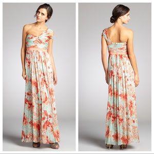 BCBGMAXAZRIA Silk 'inga' One Shoulder Maxi Dress